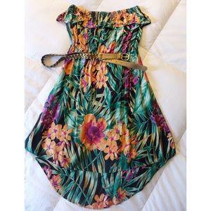 Candies Floral strapless summer Dress